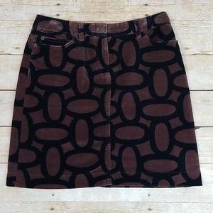 Boden Velvet Oval Patterned Skirt, Long